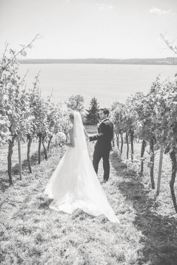 Hochzeit in den Weinbergen von Birnau am Bodensee